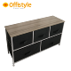 Home desk with wood top metal frame non-woven fabric drawer storage cabinet furniture