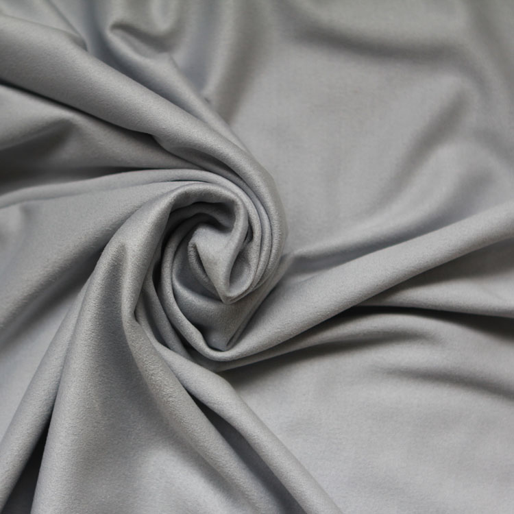 Shengze factory 100% polyester faux suede leather fabric, coated leather fabric,coated knit fabric wholesale