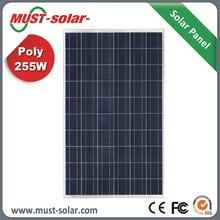 High Efficiency A-Grade Poly 255w Solar Panel