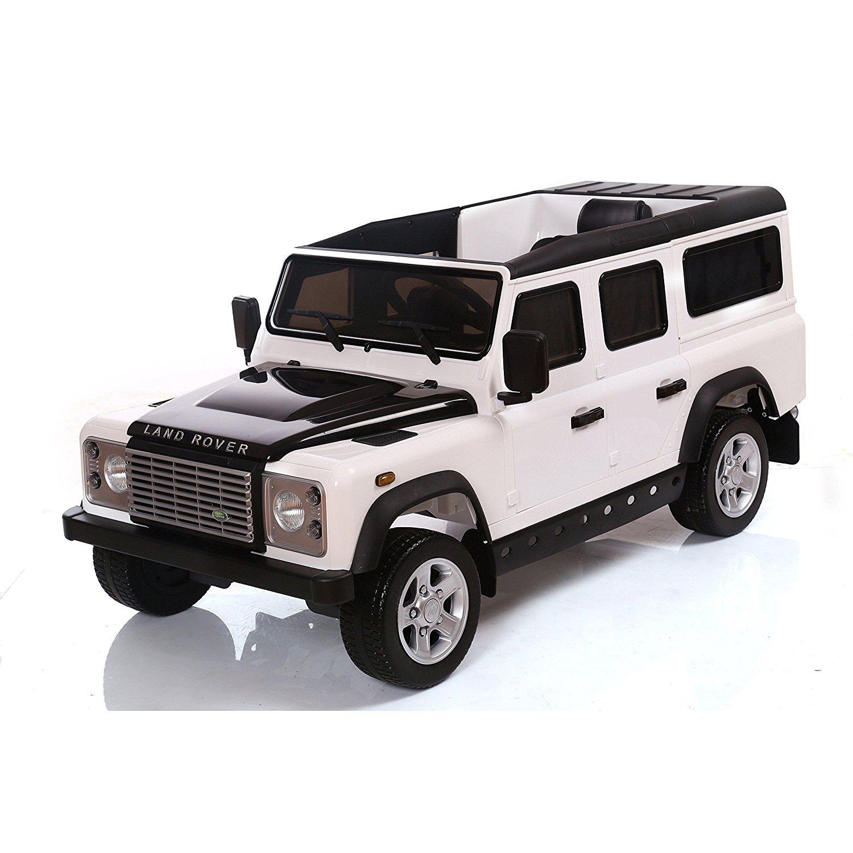 Licensed Range Rover Defender 12V Kids Battery Powered Ride On Car - White