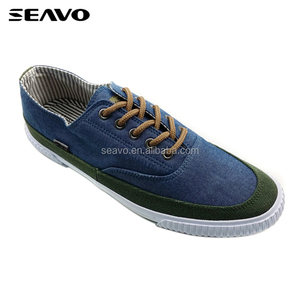 SEAVO cheap mens cemented sexy blue canvas sport shoe
