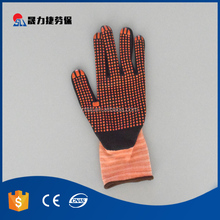 Factory pvc dotted cotton antiskid grip gloves