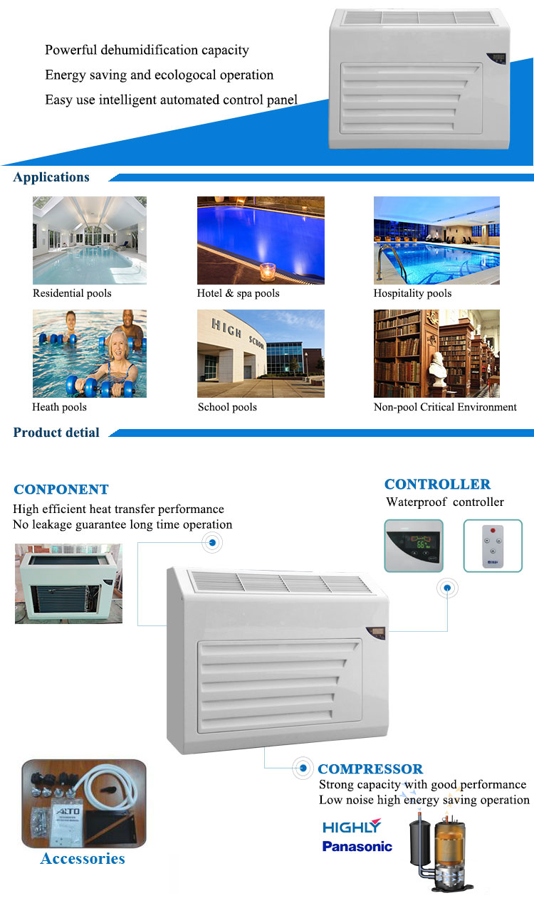 4.2L/h dehumidifier for industrial commercial uses