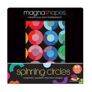 Magnetic Magna Shapes Spinning Circles Free Form Shapes Creative Play