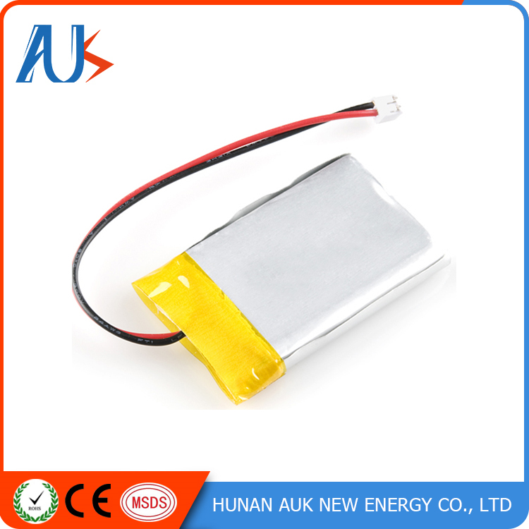Rechargeable flat 3.7v 2500mah lipo battery with pcm
