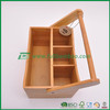 customized restaurant cutlery tray wholesale, deep bamboo cutlery tray for kitchen