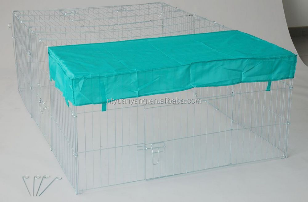 folding outdoor with sunshade rabbit enclosure