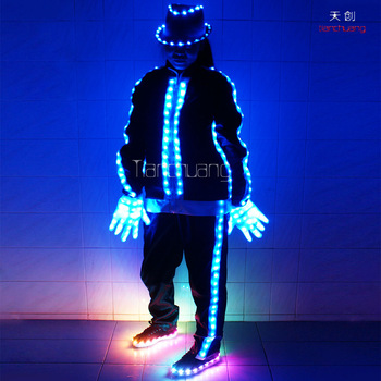 Stilts Walker Led Robot Suits Tron Dance Wear Multicolored Western Costumes