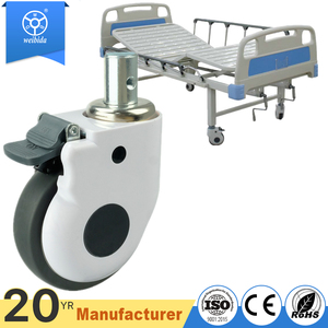 WBD Silent castors for hospital beds wheels medical grade casters