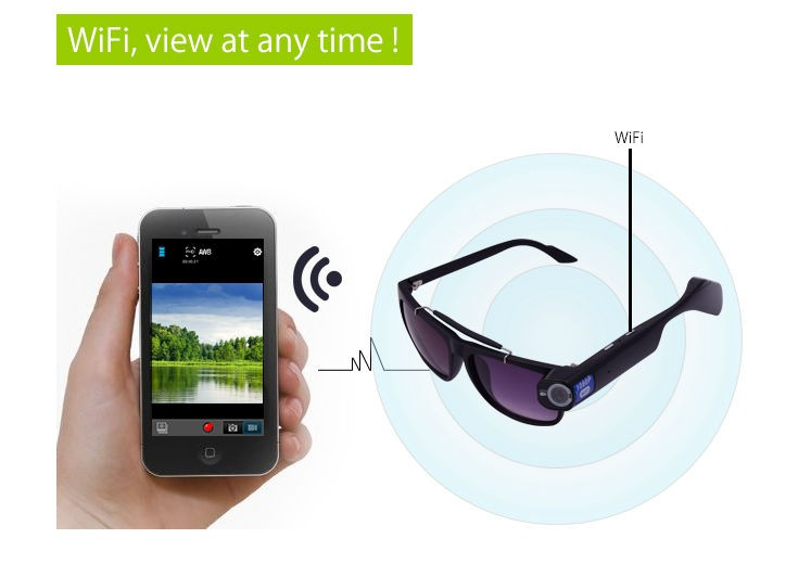 Smart Wearables Wifi 1080p Hd Video Recording Glasses