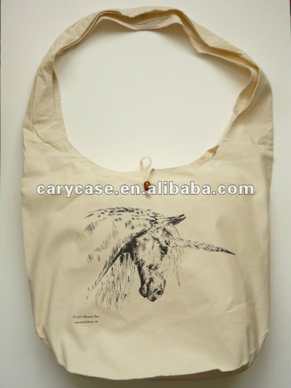 Natural Tai Monk Moon cotton Bag