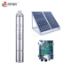 Stainless steel solar submersible deep well water dc pump kit solar power for boreholes pumps