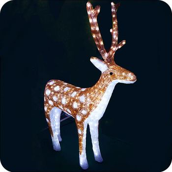 Outdoor Lighted Reindeer Lights Acrylic Reindeer Outside Christmas  Decorations