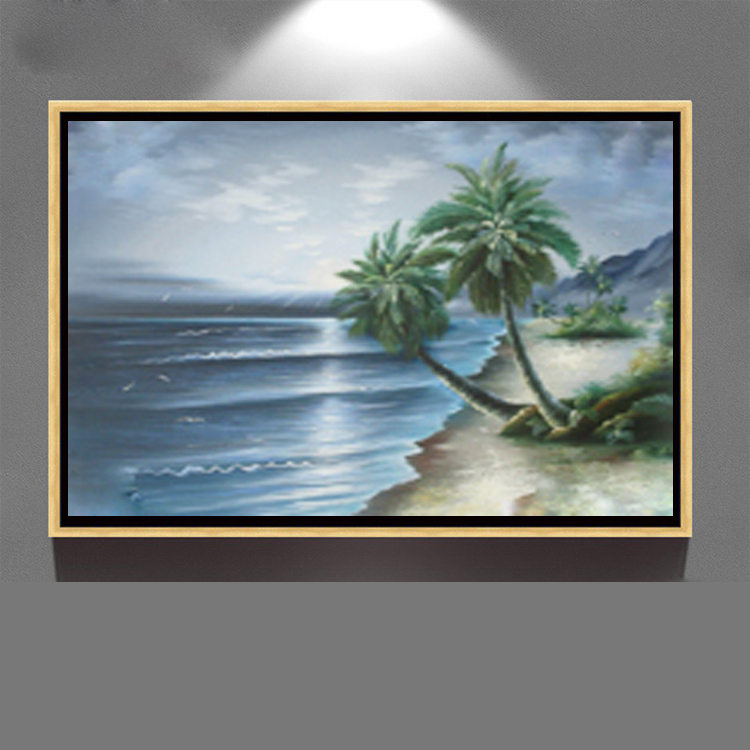 decor modern hand panted canvas acrylic seascape oil painting