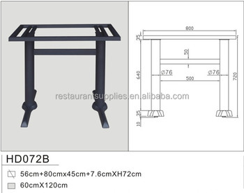 Restaurant Furniture Parts Metal Table Base Iron Frame Table Base - Restaurant table base parts
