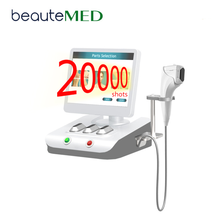 BEAUTEMED 20000 Aufnahmen HIFU 3D, 2018 Neue Version 8 Optionale Patronen zur Hautstraffung der 3D Hifu Face Lift Machine