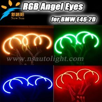 Mluti Color Control RGB Angel Eyes For BMW E46 2D 5050 SMD LED Angel Eyes