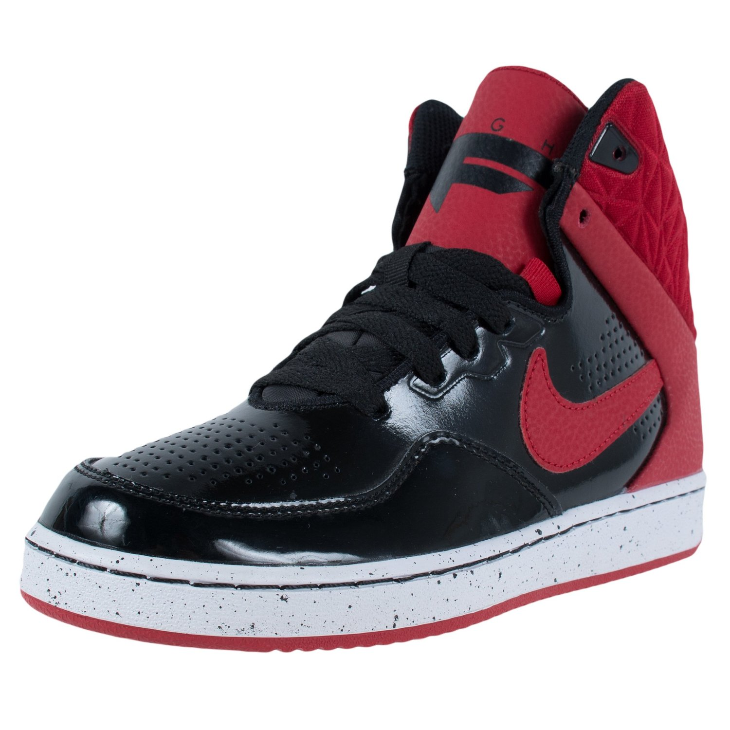 4e3ba759 Get Quotations · NIKE FIRST FLIGHT GS BASKETBALL SNEAKERS BLACK GYM RED  725132 003 SZ 4Y