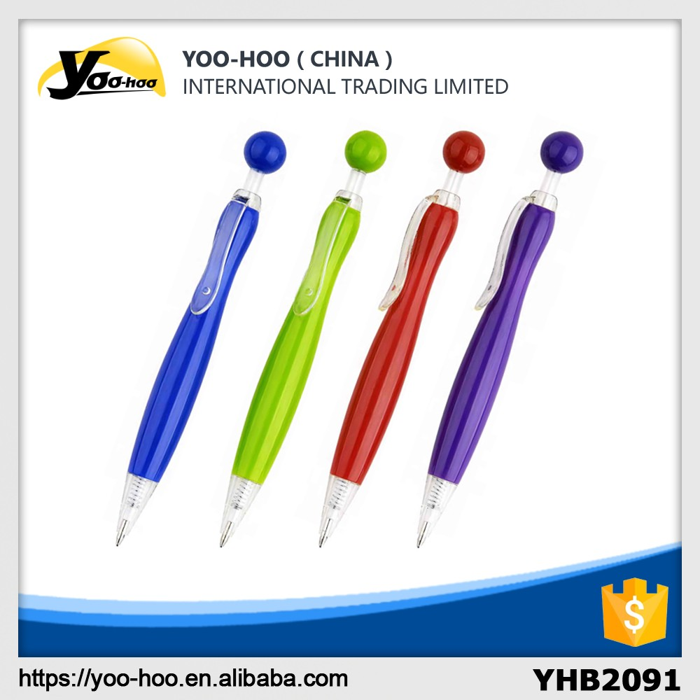 Promotional round top plastic ballpoint pen