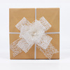 Gift packaging kraft box decoration ribbon butterfly pull string bows