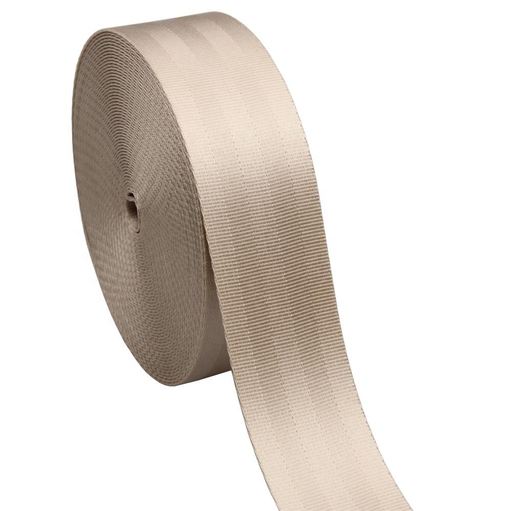 Custom 47-50mm beige seatbelt webbing for car seat belt фото