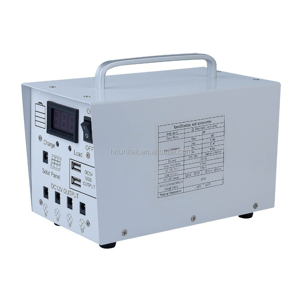18v panel 10w portable electricty solar power station