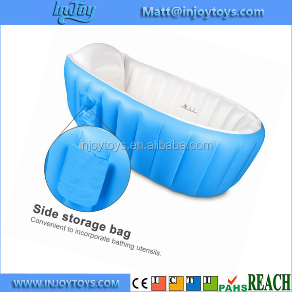 Thick Soft PVC Foldable Inflatable Baby Kids Bathtub Bath Tub