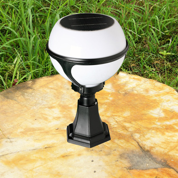 Garden Ball Lamp Decorative Gate Post Pillar Lamp Led Solar Lights ...