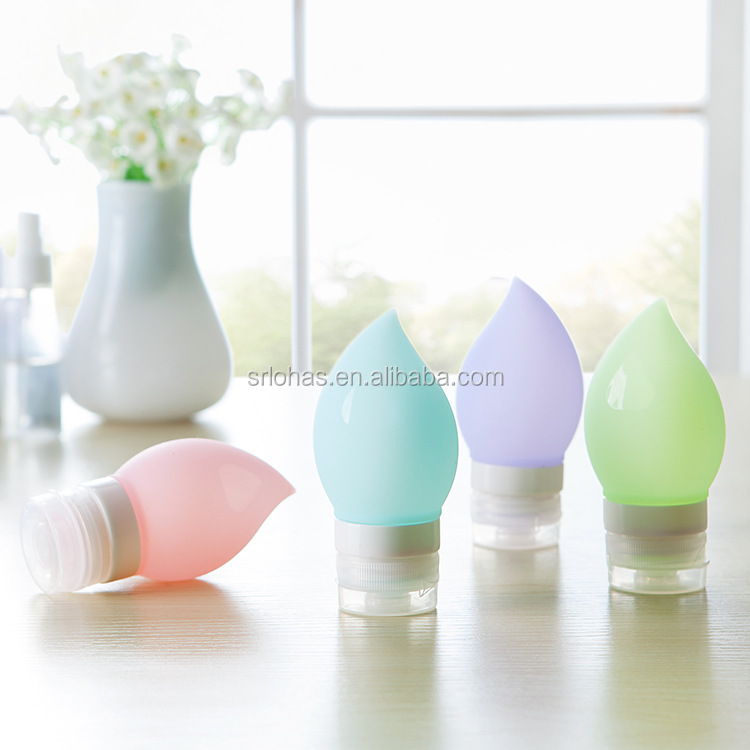 Silicone tubes soft squeeze travel bottles