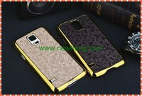 hot diamond grain leather stick case for Samsung Galaxy S5 mini