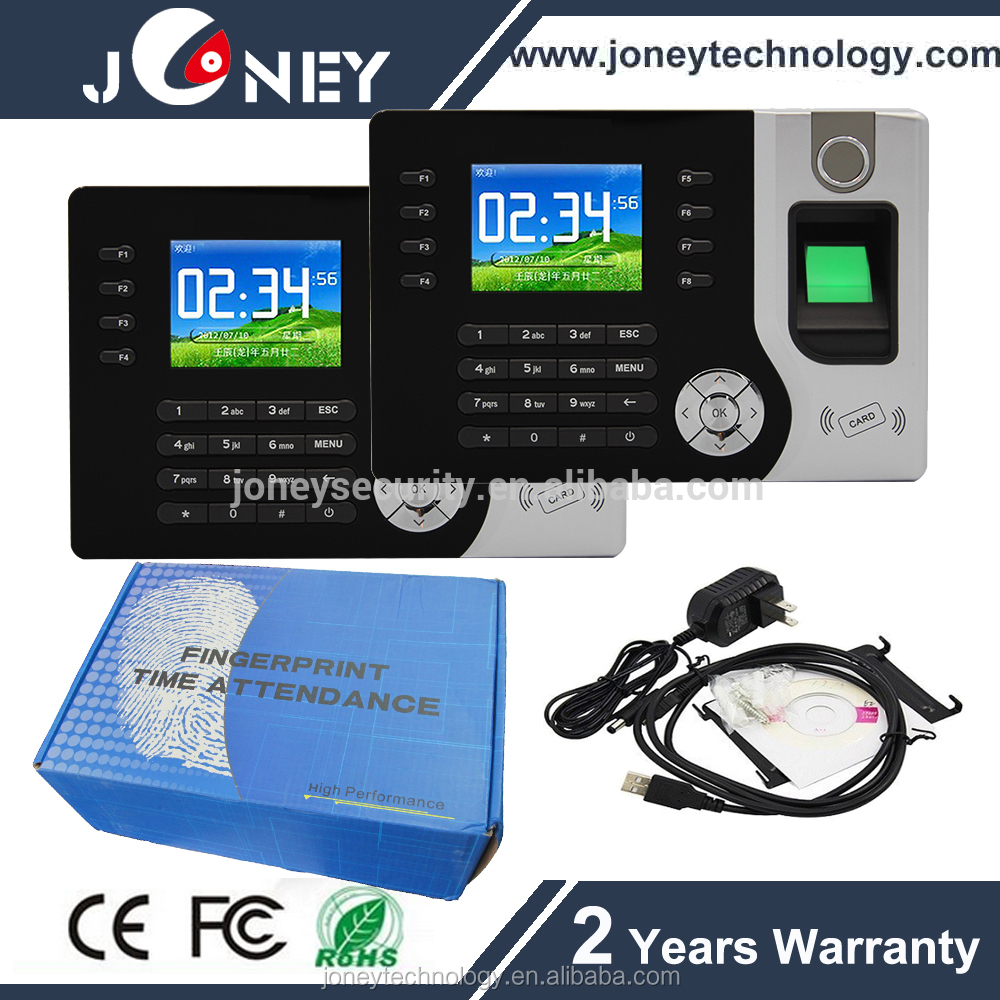 "2.4"" TFT Support ID Card TCP/IP Fingerprint Time Attendance Machine Price"