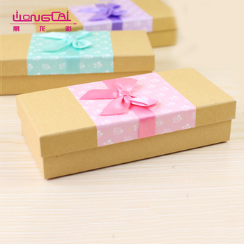 High quality custom luxury rectangle brown kraft gift paper packaging box