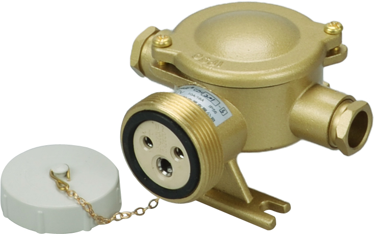 factory hot sales marine water tight brass socket outlet