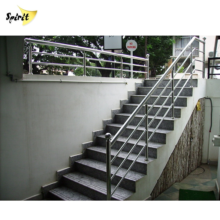 Steel Flat Bar Staircase Railing Design Terrace Balustrades