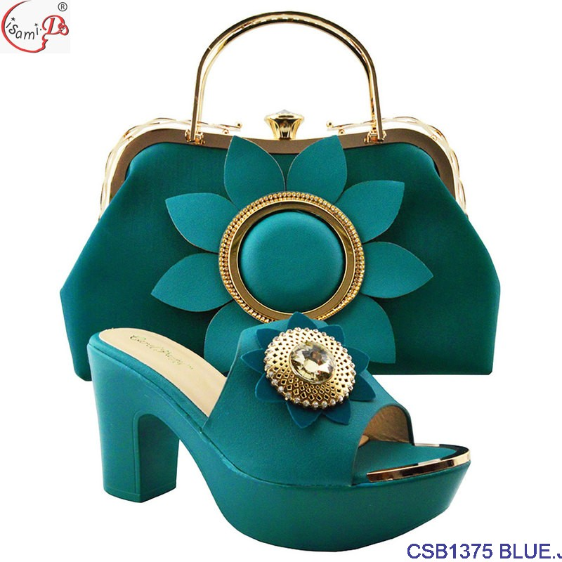 High match bag BLUE D party CSB1375 quality African Shoes Wholesale lady for d1ZFwqd