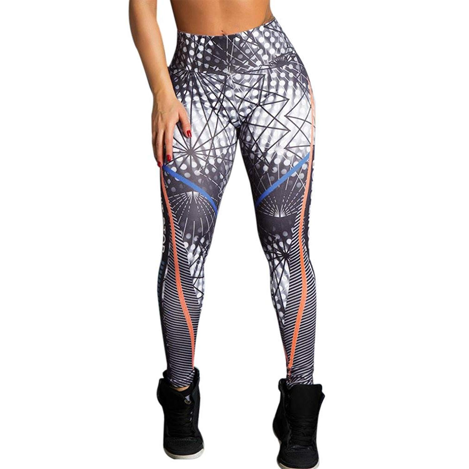 86850b6fef806 Get Quotations · Dreaman Women High Waist Fitness Leggings Running Gym Stretch  Sports Pants Trousers Yoga Pant Athleta Joggers