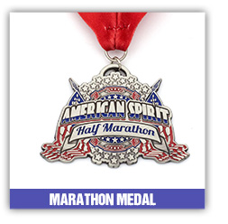 China manufacturer custom blank metal sports 5k running marathon medal with ribbon