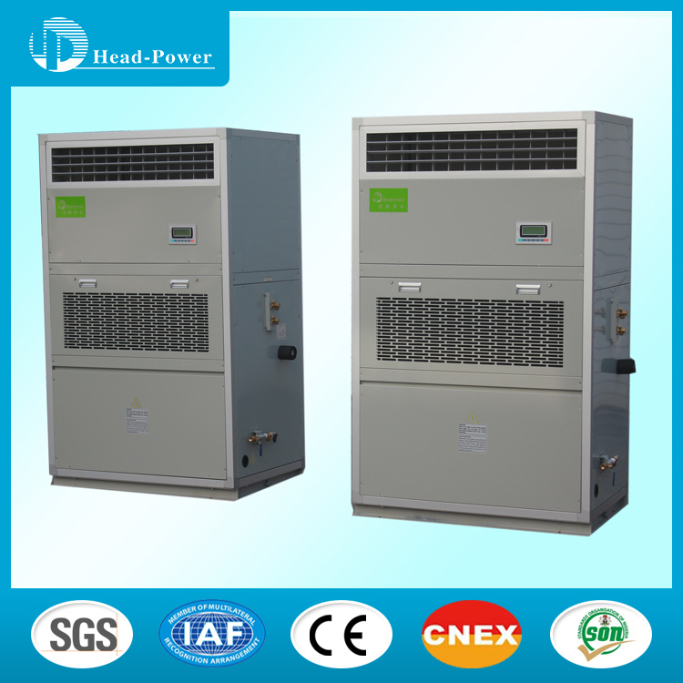 Outdoor electric cabinet air conditioning for cabinet refrigeration