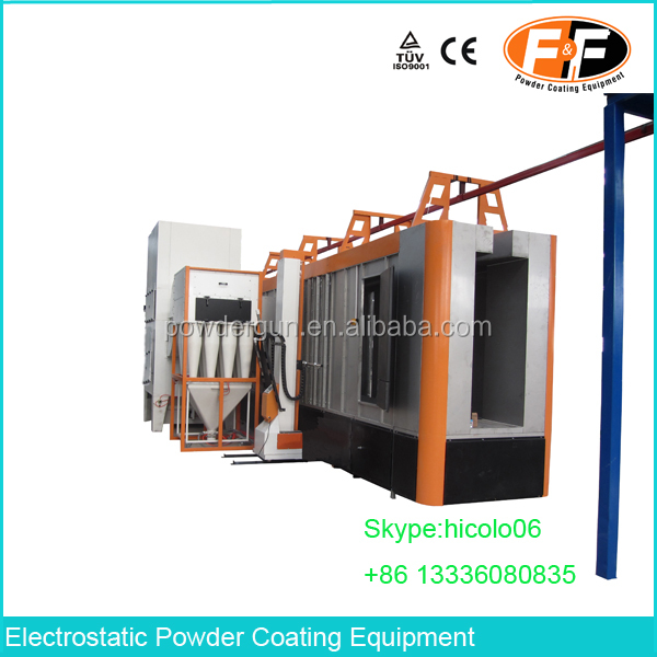 Mono Cyclone Electrostatic Powder Coating Cyclone Booth with Auto Spray Guns