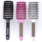 Natural Boar Hairbrush for Women Long Thick Thin Fine Curly Tangled Hair Massage Scalp Bristle Hair Brush Combs
