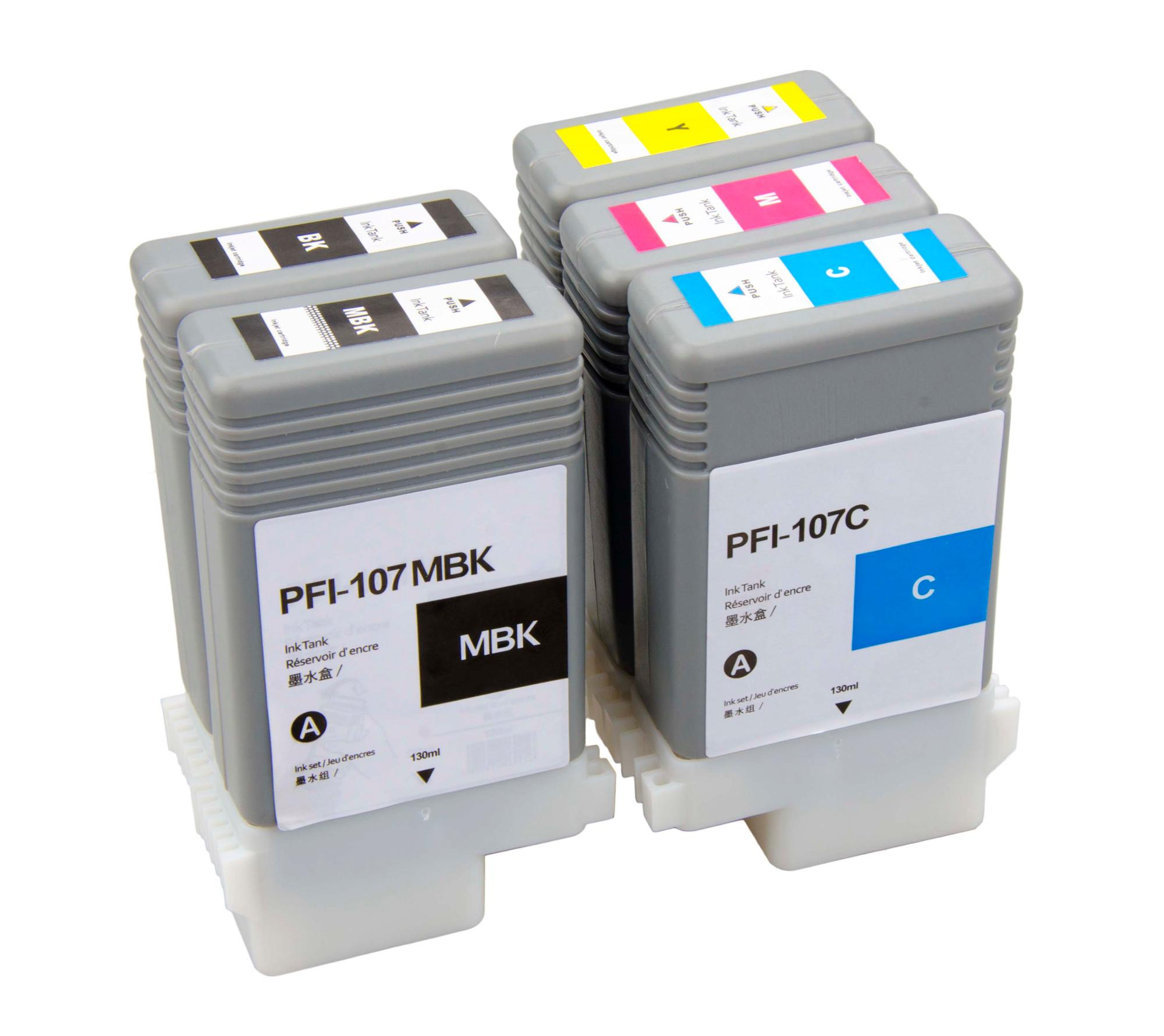 Compatible ink cartridge PFI107 Black for Canon ipf670 Printer model