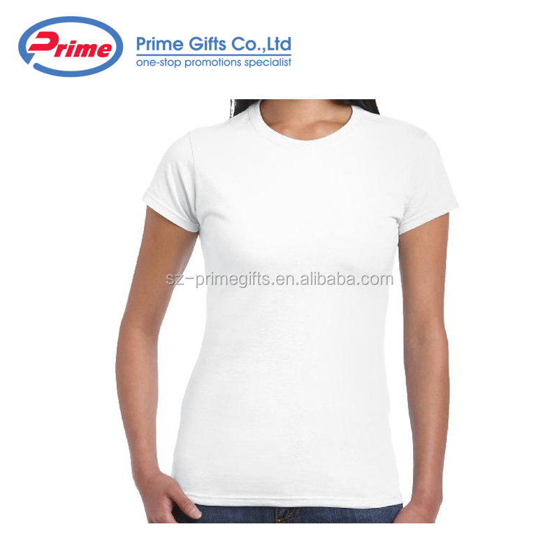 Popular 100% Cotton Ladies T-shirt for Promotion