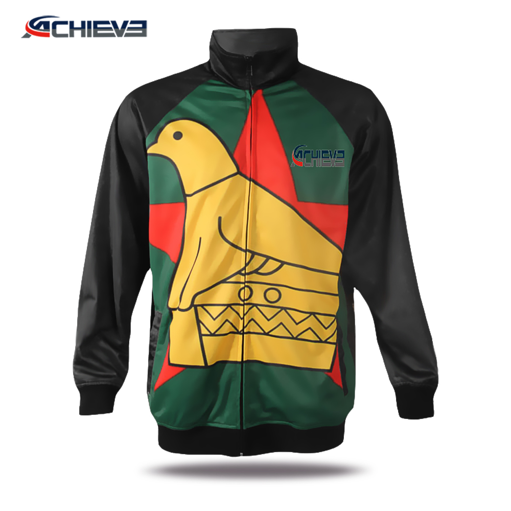 Wholesale sublimation Printed men outdoor windproof clothing jackets plus size men autumn jacket coat made in China 2018