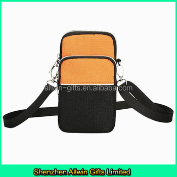 Outdoor Sport Canvas Cell Phone Sling Bag/mobile Phone Shoulder ...