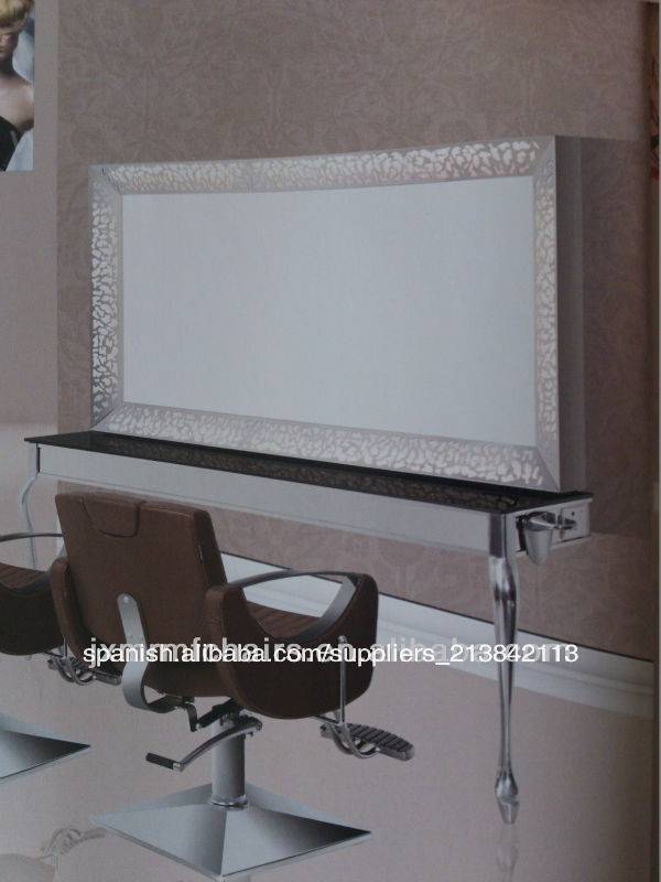 Moderno Espejo Del Salon De Pelo De La Estacion Mobiliario De Sala - Espejo-salon-moderno