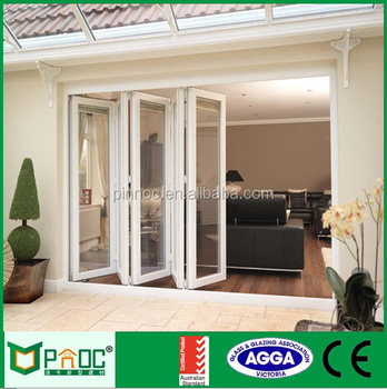 Italy System Aluminum Accordion Sliding Door And Window Hardware With  Hinges For European Market