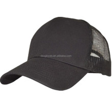 Trucker Cap Supplier, Hot Selling 6 Panels 100% Cotton Blank Mesh Caps, High Quality Promotion Black Trucker Hat