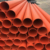 orange color pvc pipe light weight pvc pipe and fitting  for electric conduit pipe