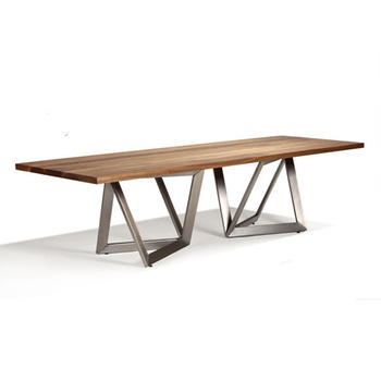 Wooden Top And Metal Leg Dining Table Simple Modern Design Buy Dining Table Metal Dining Table Woodden Dining Set Product On Alibaba Com