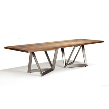 Wooden Top And Metal Leg Dining Table Simple Modern Design Woodden Set Product On Alibaba